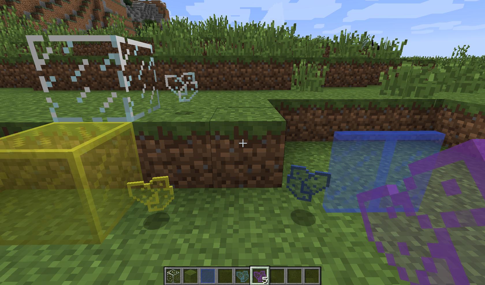 Minecraft - Стеклянные осколки/Glass Shards Mod