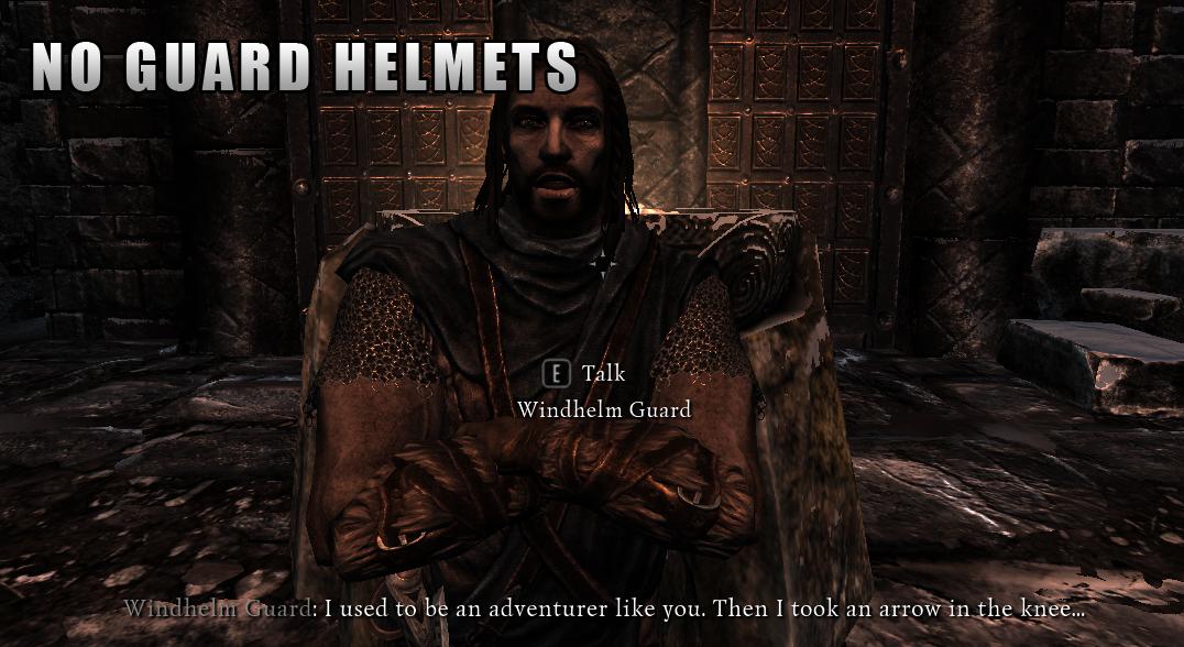 Skyrim - Невидимые шлемы у стражи / No Guard Helmets