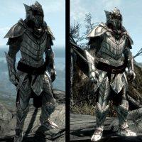 Skyrim - Лёгкая эльфийская броня из драконьей кости / Elven Dragonbone Light Armor Set
