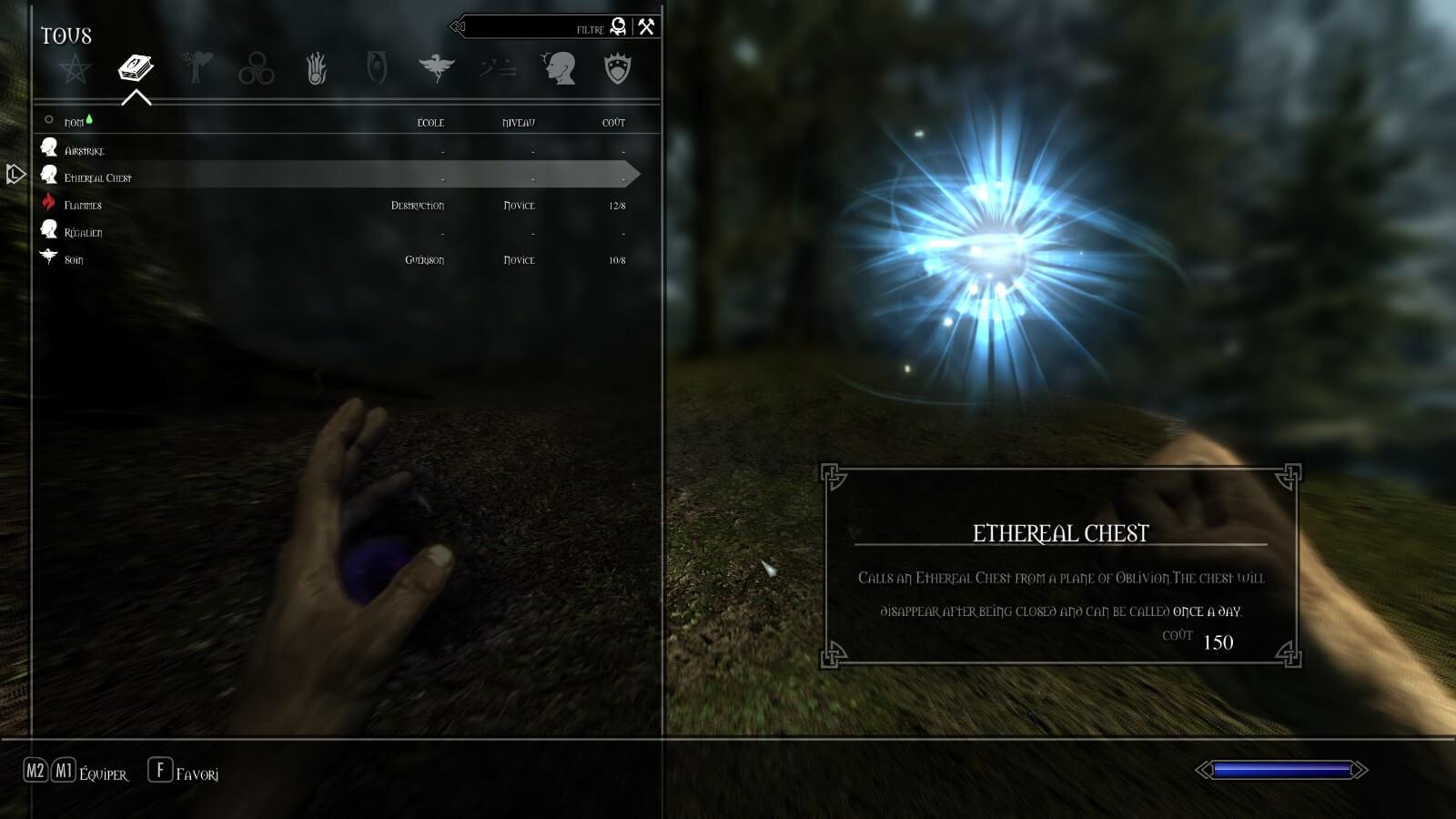 Skyrim - Призываемый эфирный сундук / Summonable Ethereal Chest