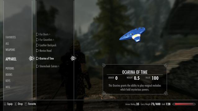 Skyrim - Рабочая окарина времени / Working Ocarina of time