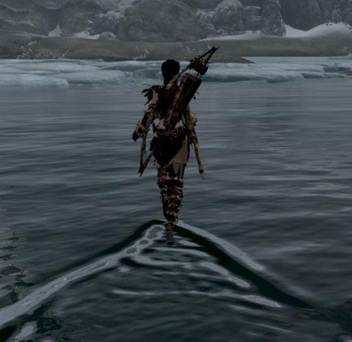 Skyrim - Простое хождение по воде / Simple Waterwalking