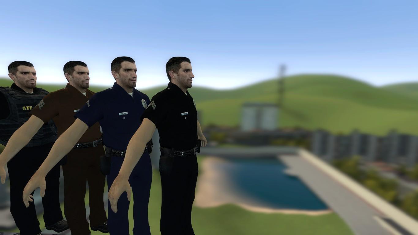 Garry's Mod 13 - Полицейские из POSTAL 2 (модели)