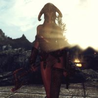 Skyrim SE - Броня древнего драугра (женская)