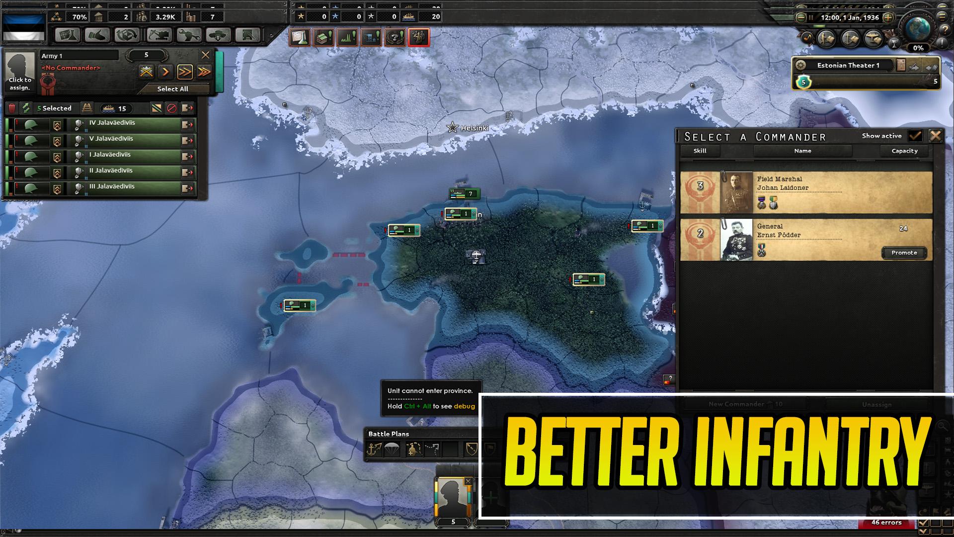 Hearts of Iron IV - Улучшенная Эстония