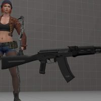 Garry's Mod 13 - АК-74 (чёрный пластик) из Insurgency (проп)