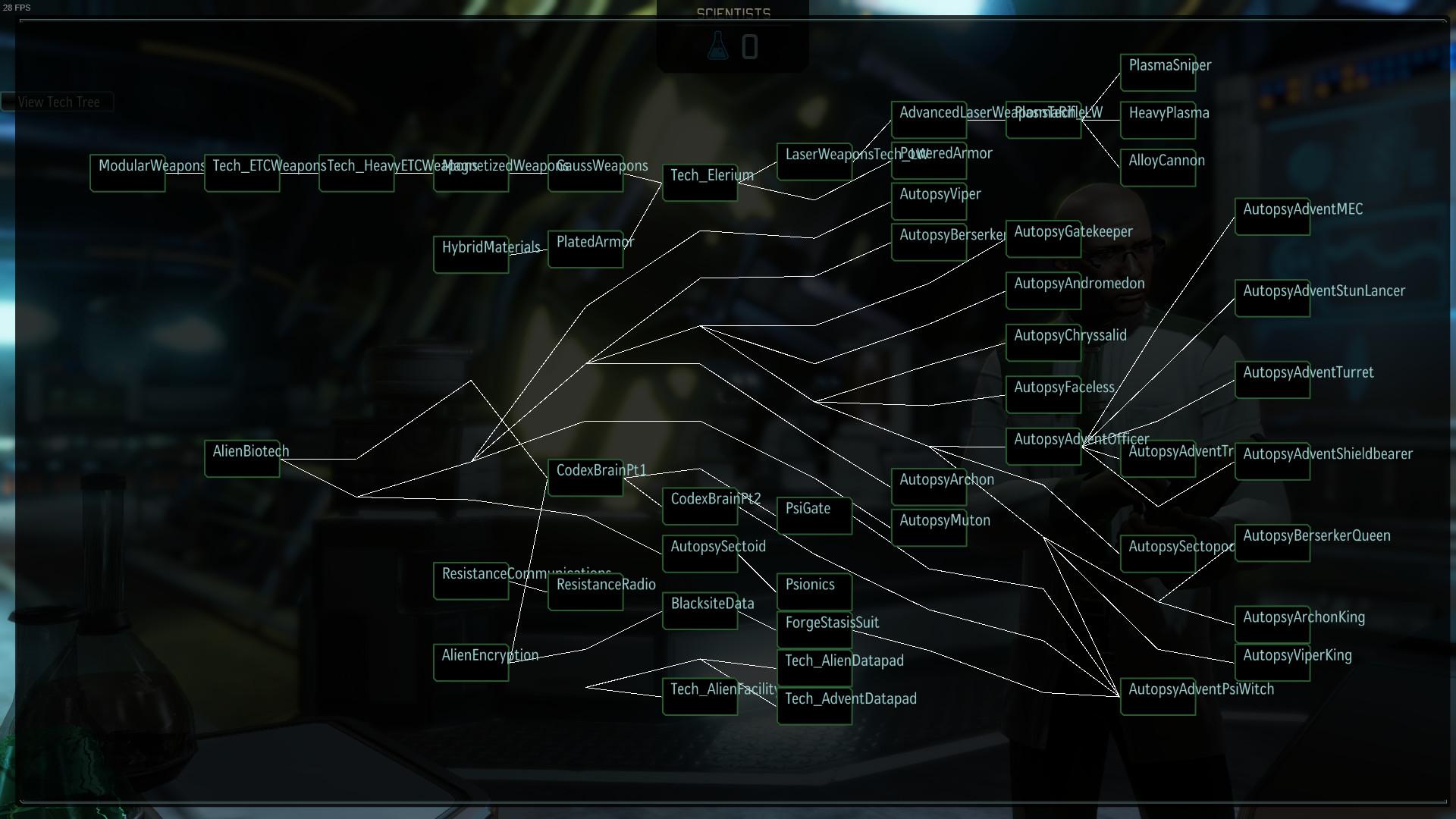 XCOM 2 - Дерево технологий (снэпшот)