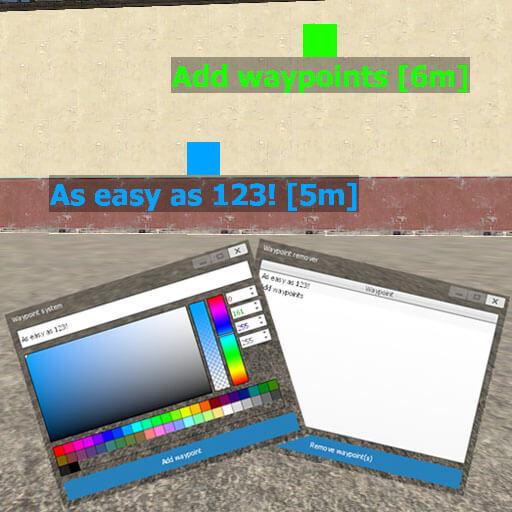 Garry's Mod 13 - Система меток (вэйпоинтов) в стиле Minecraft