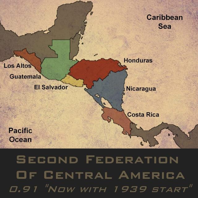 Hearts of Iron IV - Вторая Федерация Центральной Америки