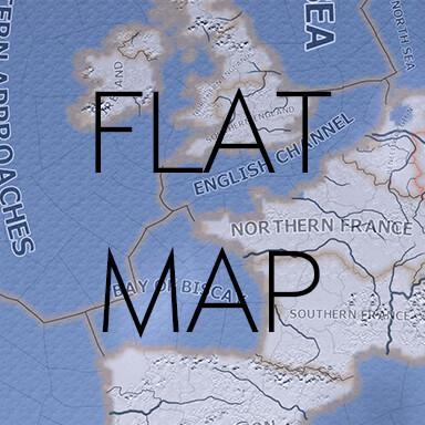 Hearts of Iron IV - Плоская карта