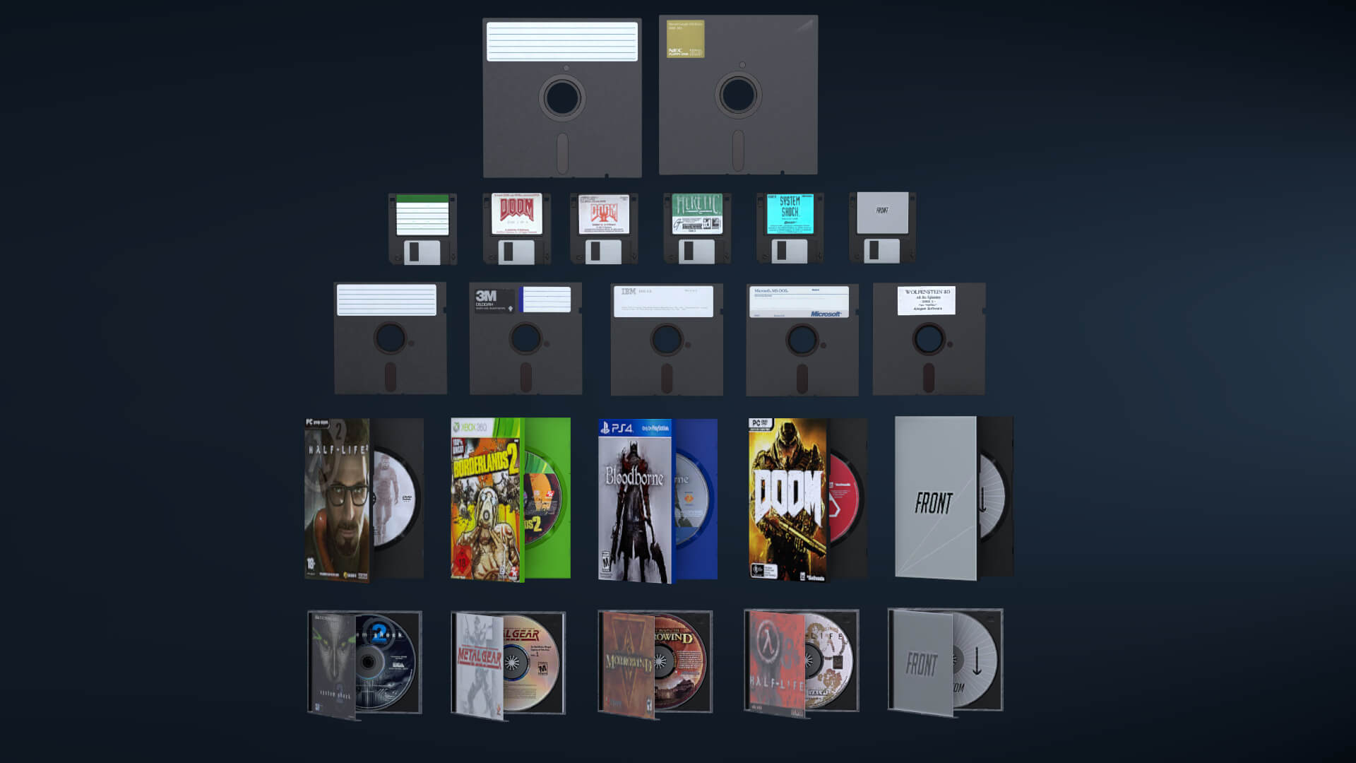 Garry's Mod 13 - Игровые диски и коробки для них