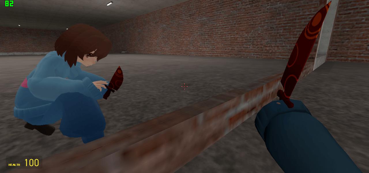 Garry's Mod 13 - Изношенный кинжал и настоящий нож из Undertale