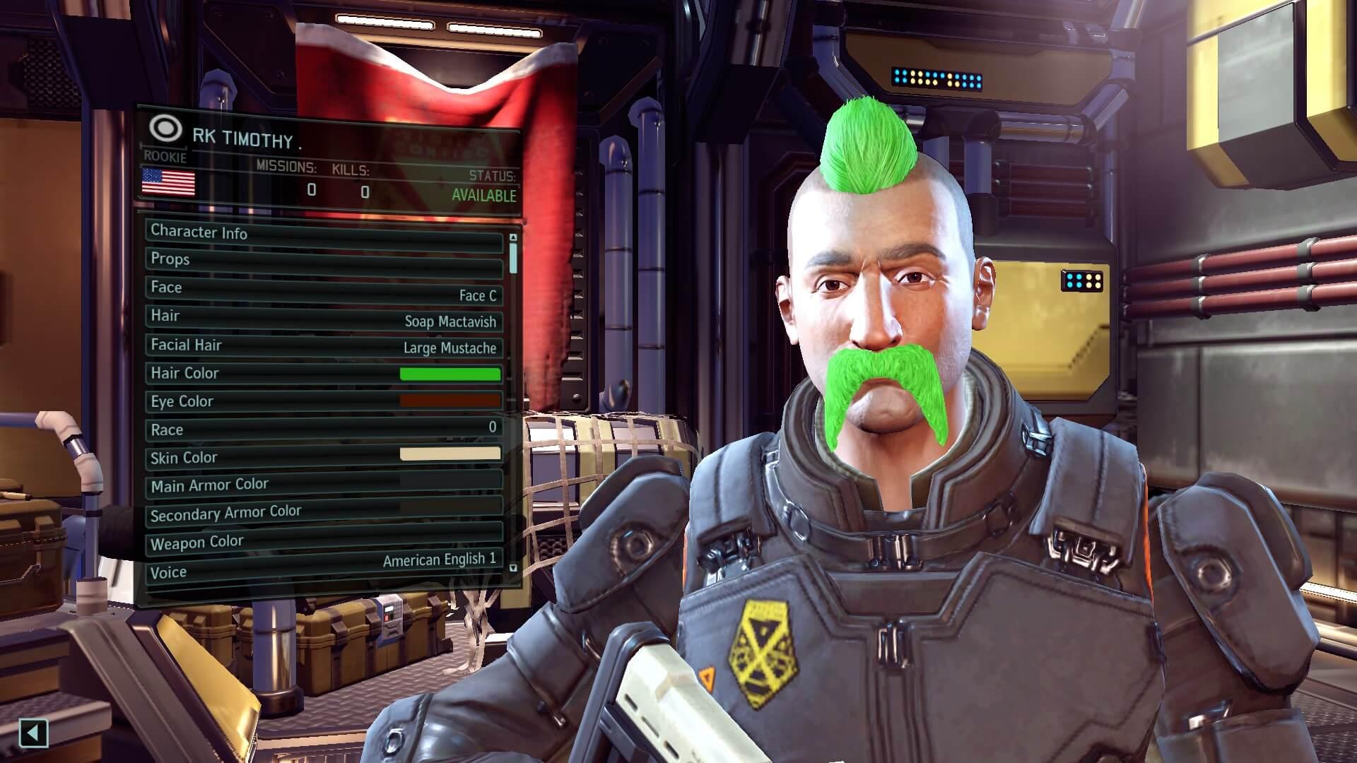 XCOM 2 - Комплект усов для персонажей