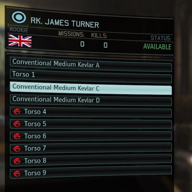 XCOM 2 - Добавить имена частям тел (комплектов)