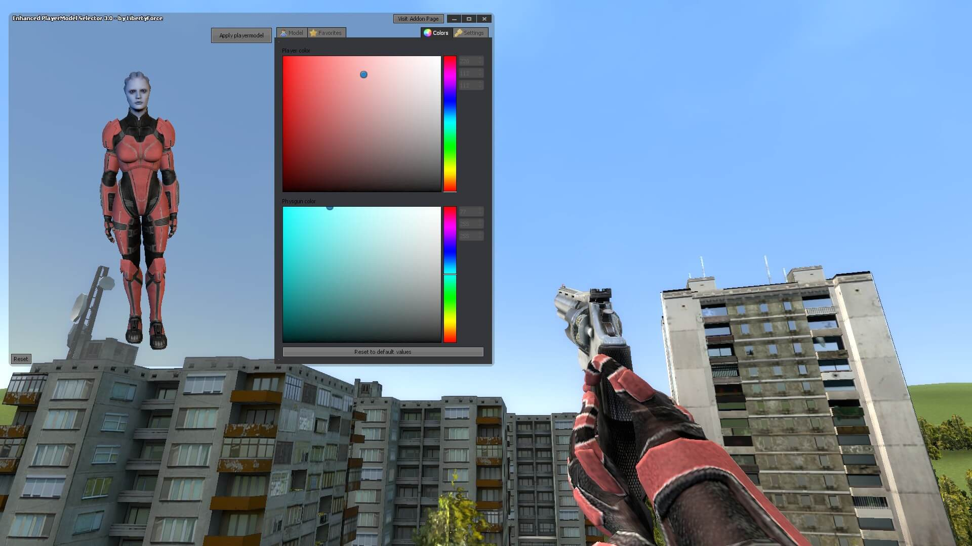 Garry's Mod 13 - Адепт азари из Mass Effect 3 (модель игрока)