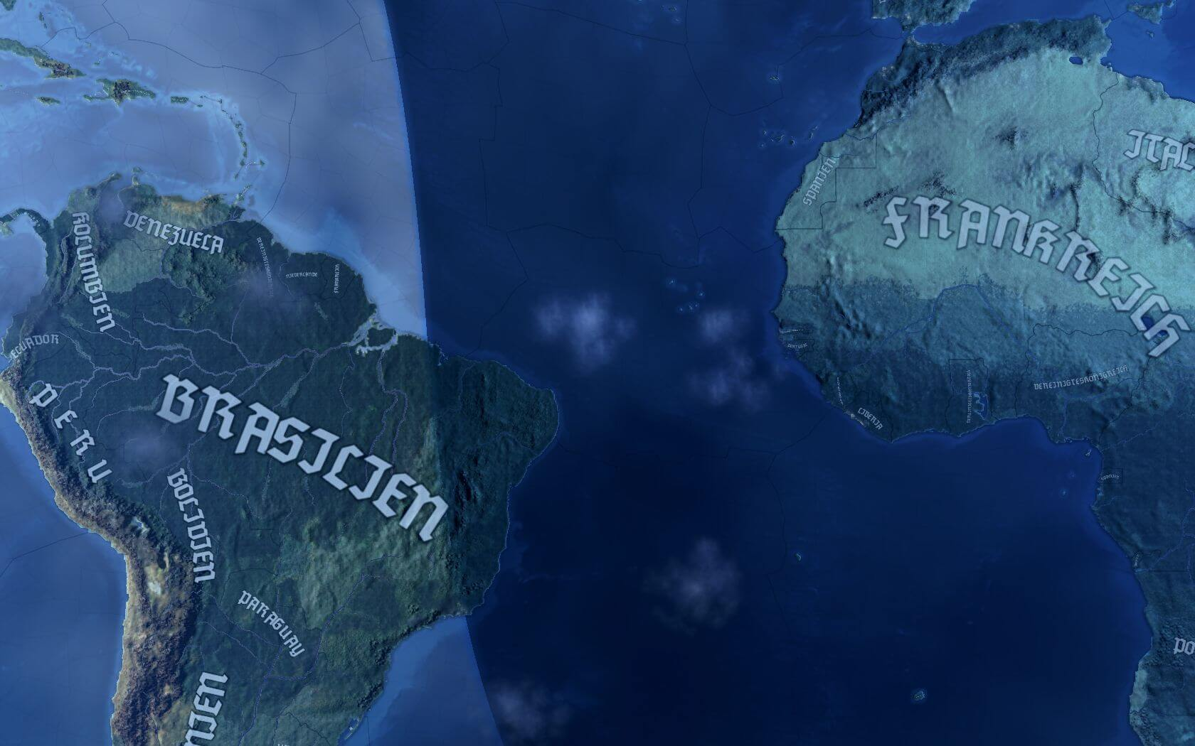 Hearts of Iron IV - Шрифт стран Оси на карте [RGFX]