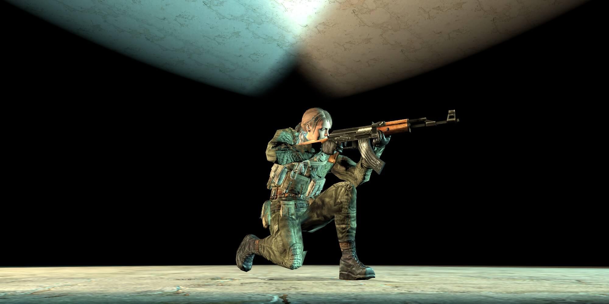 Garry's Mod 13 - Молчунья из MGS V - Сталкер (модель игрока)