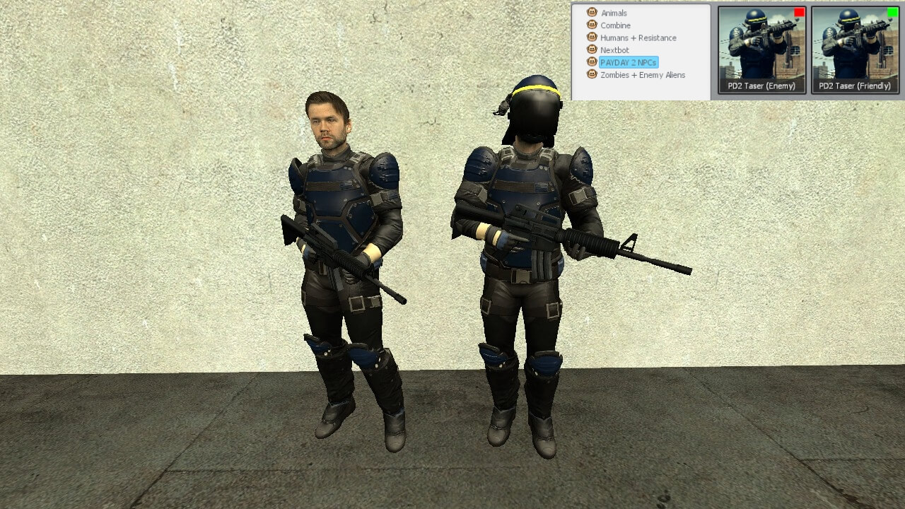 Garry's Mod 13 - Тазер из Payday 2 (модели игрока и NPC)