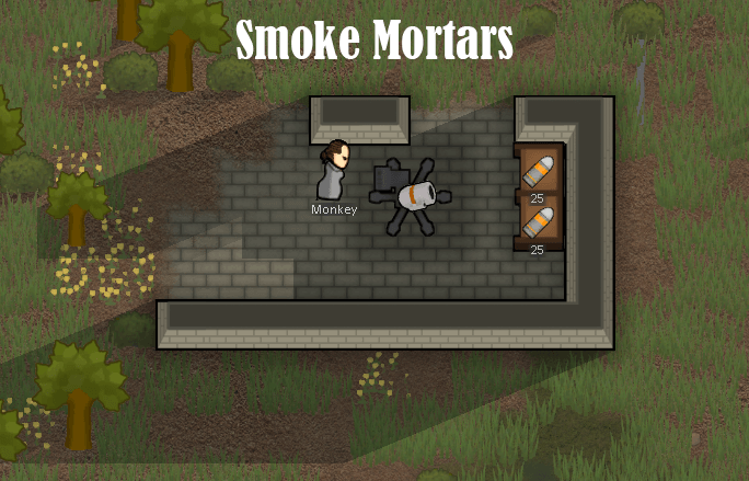 Rimworld - Дымовые гранаты и мортира