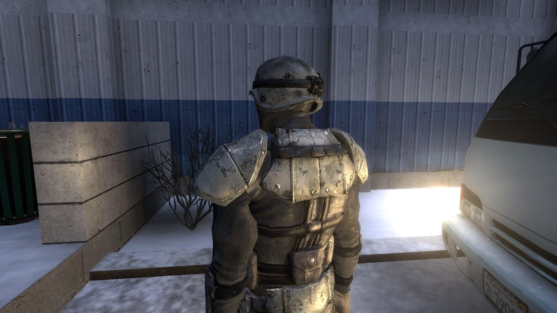 Garry's Mod 13 - Зимняя боевая броня из Fallout 3 (игровая модель и NPC)
