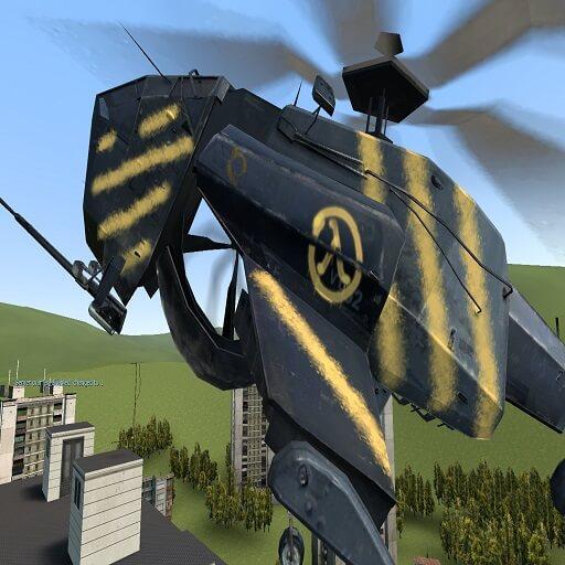 Garry's Mod 13 - Lambda Chopper из Half Life 2 (NPC)