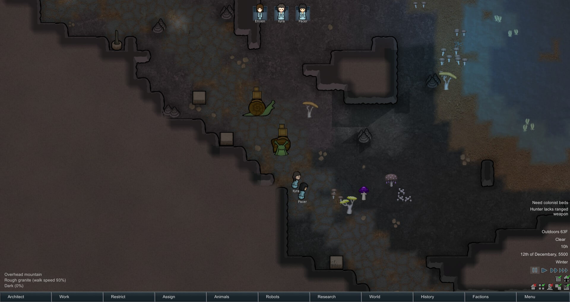 Rimworld - Biomes - новый пещерный биом