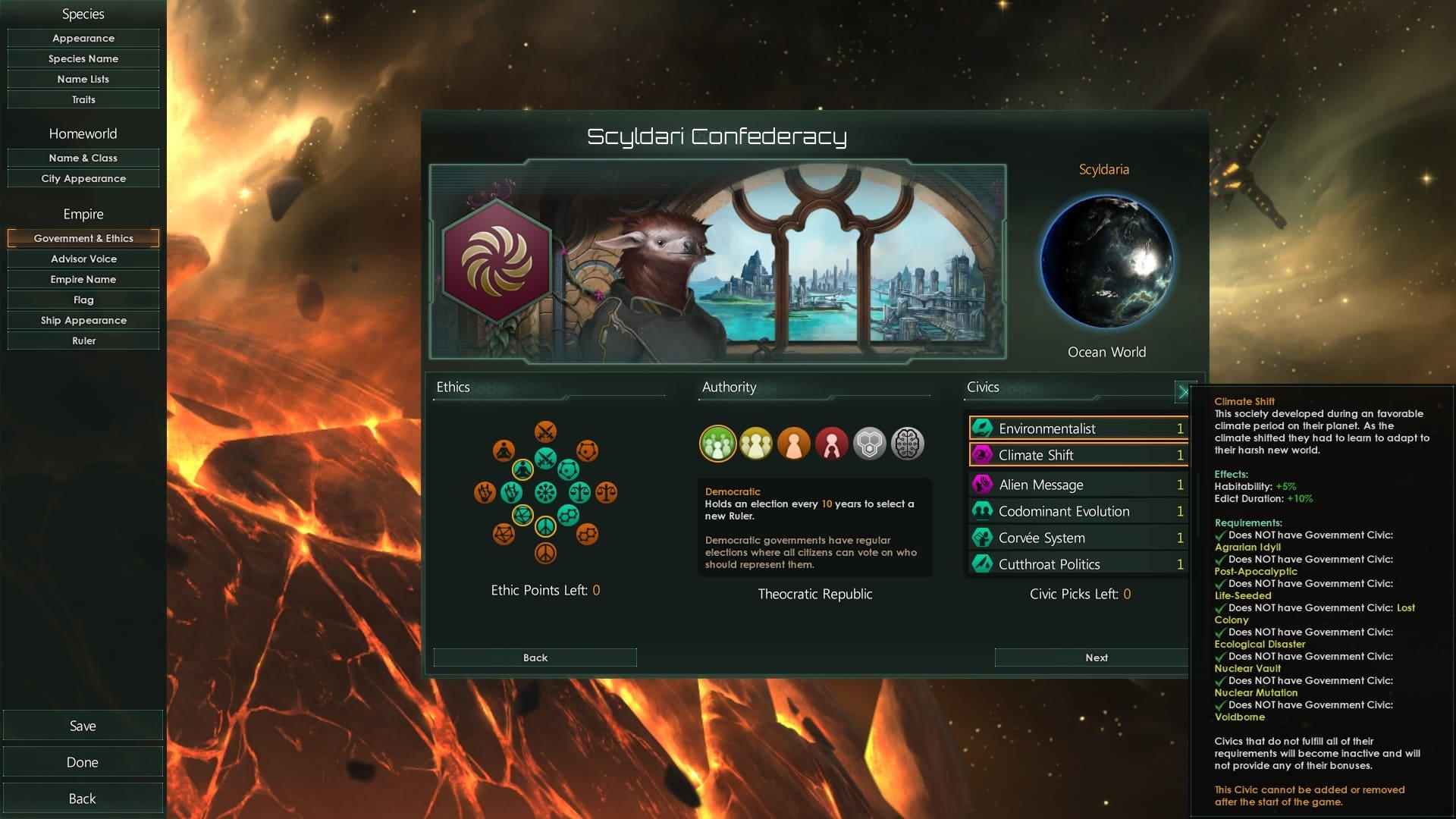 Stellaris - Origins Civics - новые гражданские модели