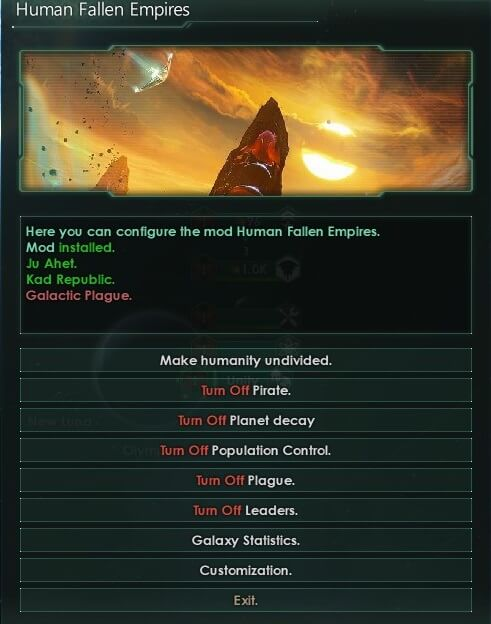 Stellaris - !Mod menu