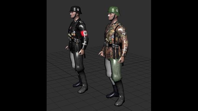 Hearts of Iron IV - Die Schutzstaffel - солдаты СС (скины, оружие, дивизии)