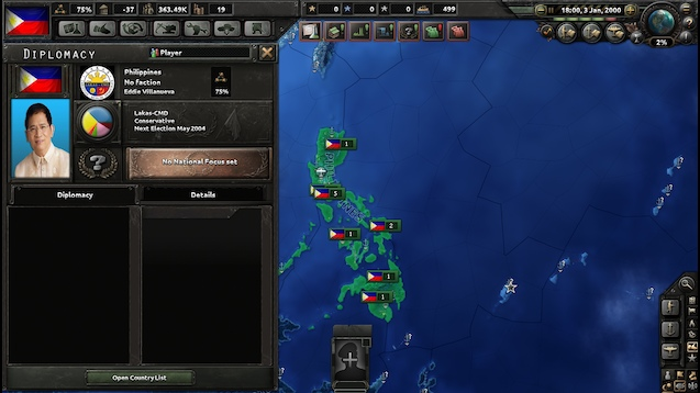 Hearts of Iron IV - Millennium Dawn: The Philippines / Рассвет Тысячелетия: Филиппины