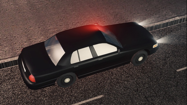 Cities: Skylines - 2011 Undercover Ford Crown Victoria Black