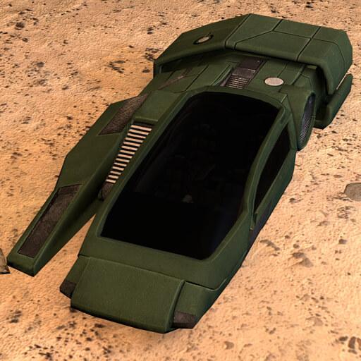 Garry's Mod - Летающая машина из Mass Effect (проп)