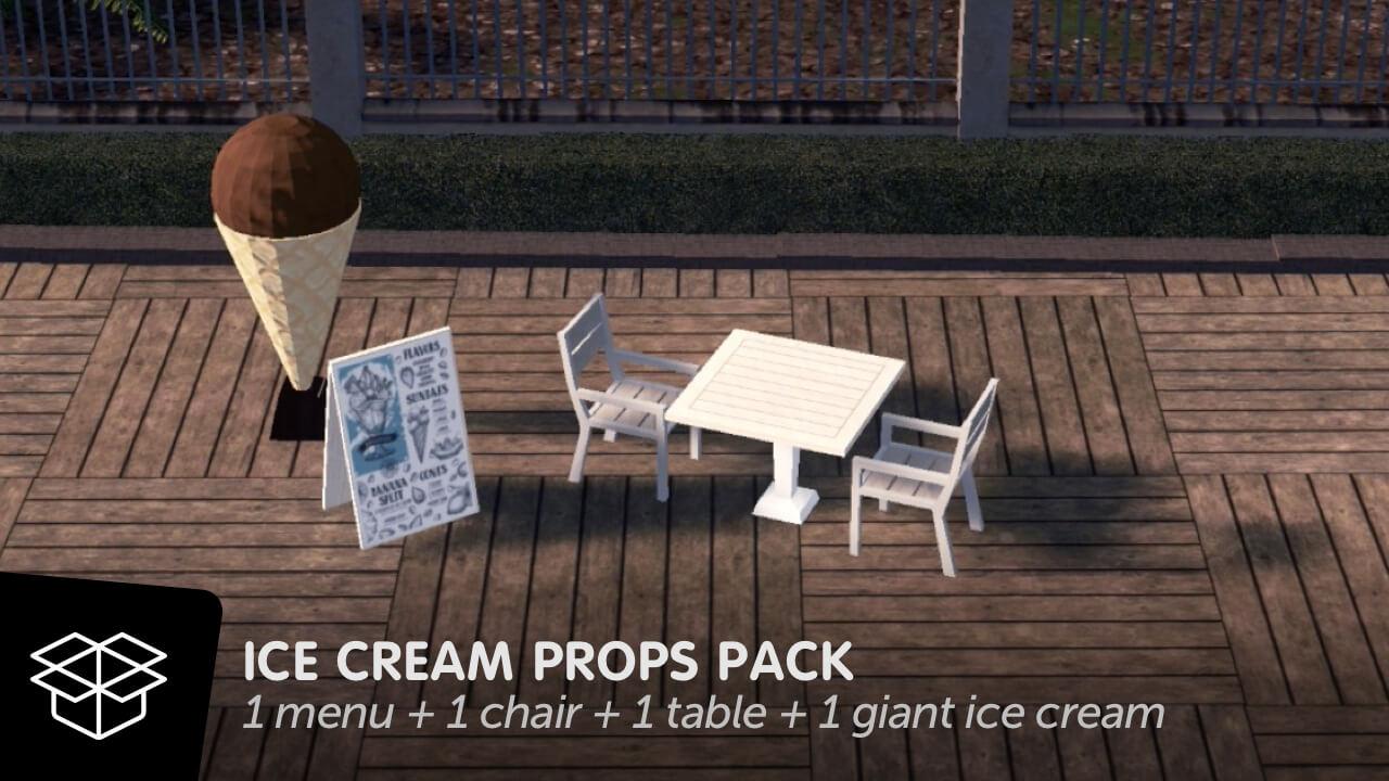 Cities:Skylines - Ice Cream Props Pack