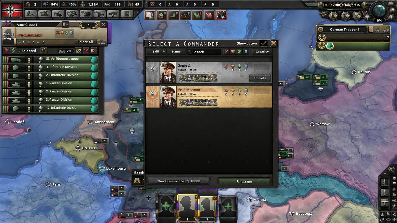 Hearts of Iron IV - Moustache Man Assumes DIRECT Control
