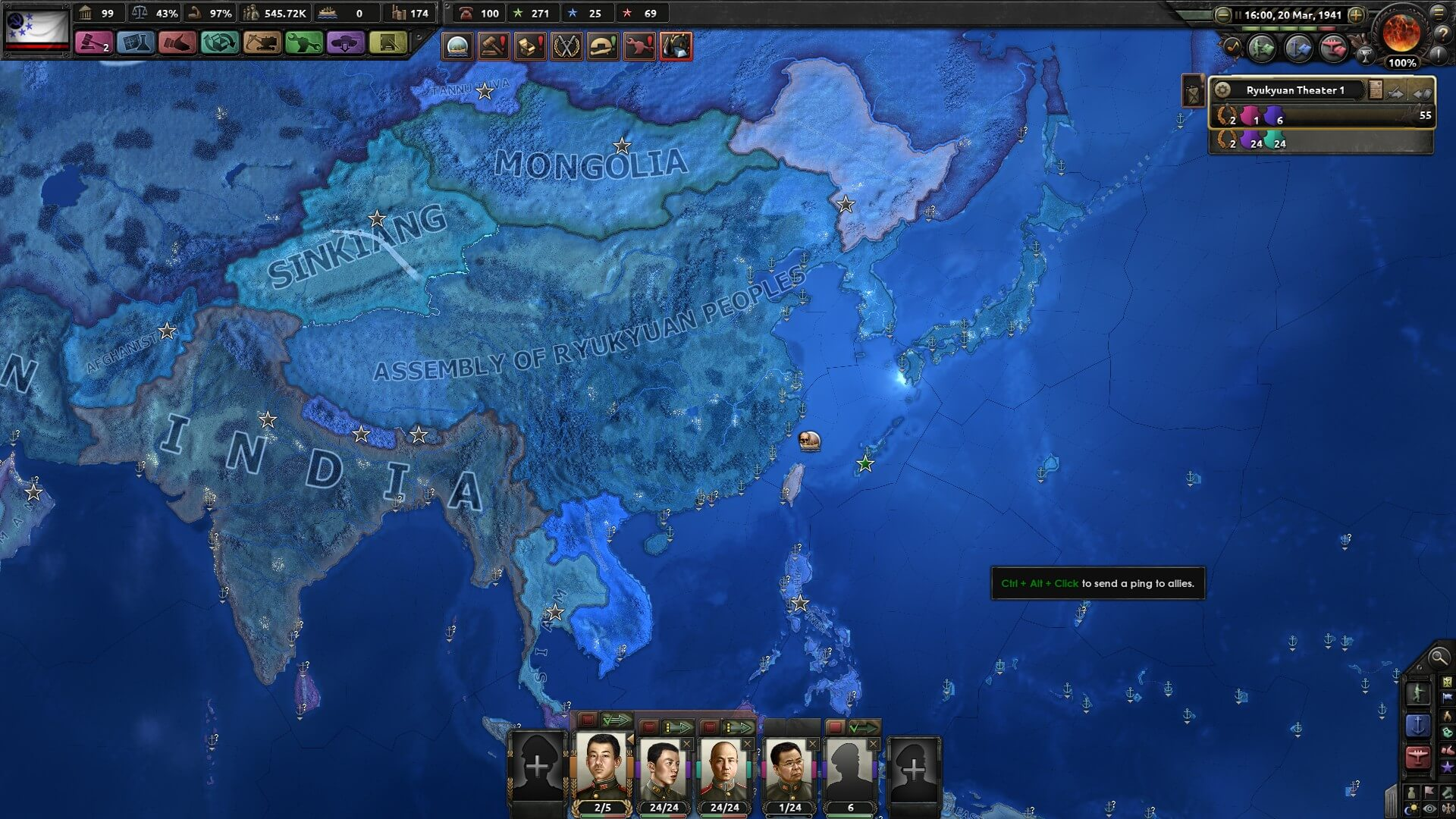 Hearts of Iron IV - The Three Mountains