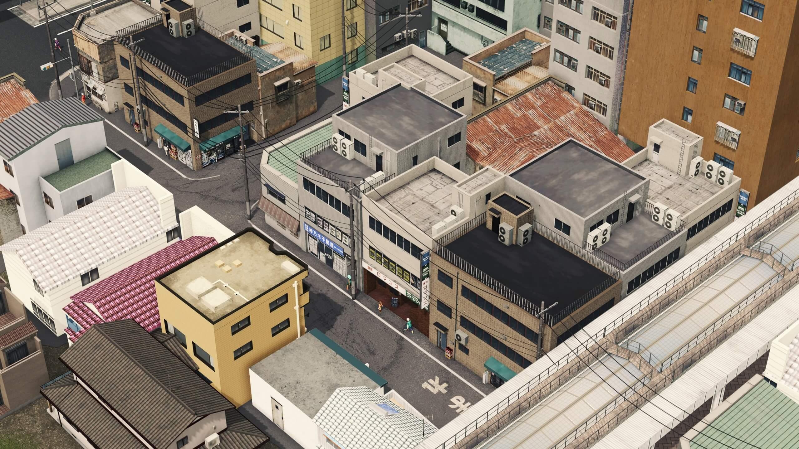 Cities: Skylines - Японская коммерция низкой плотного