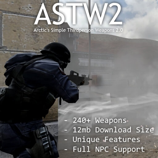 Garry's Mod - ASTW2 - Arctic's Simple Thirdperson Weapons 2.0
