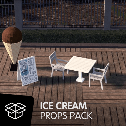 Cities:Skylines - Ice Cream Props Pack