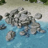 Cities: Skylines - Камни и скалы (дружелюбные к воде)