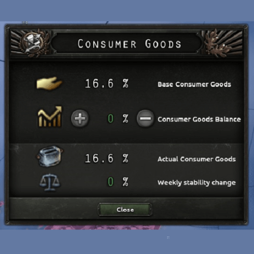 Hearts of Iron IV - Consumer goods manager