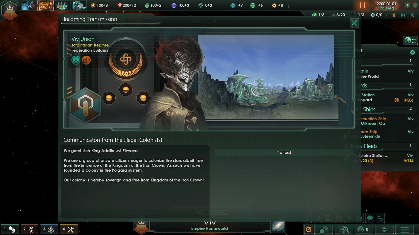 Stellaris - Колонии-изгои