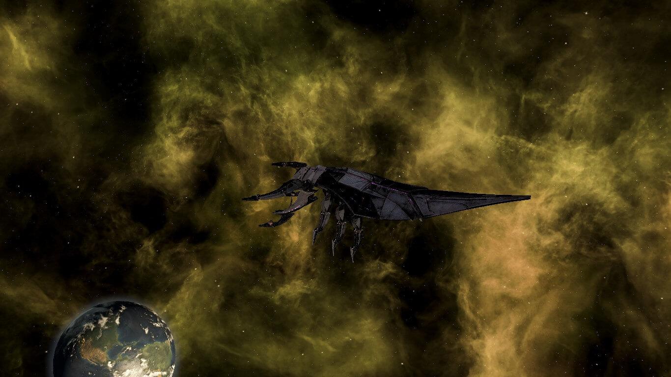 Stellaris - Жнецы из Mass Effect (стиль кораблей)