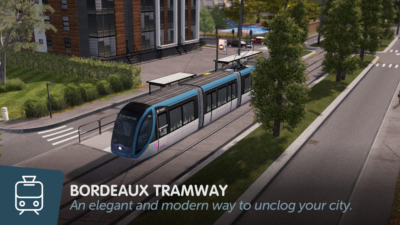 Cities: Skylines - Трамвай Бордо