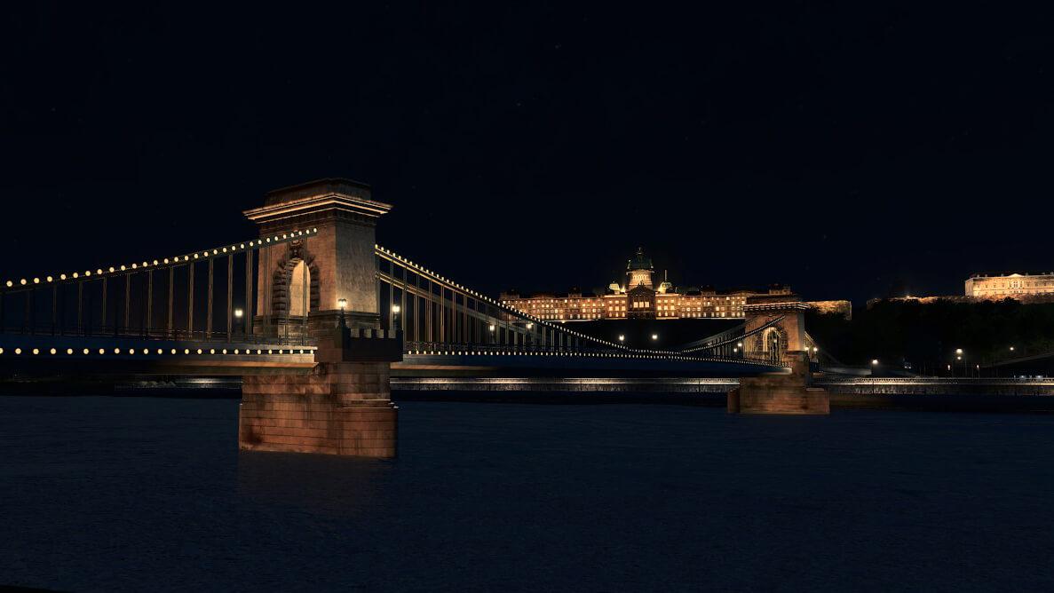 Cities: Skylines - Цепной мост Сечени (Будапешт, Венгрия)