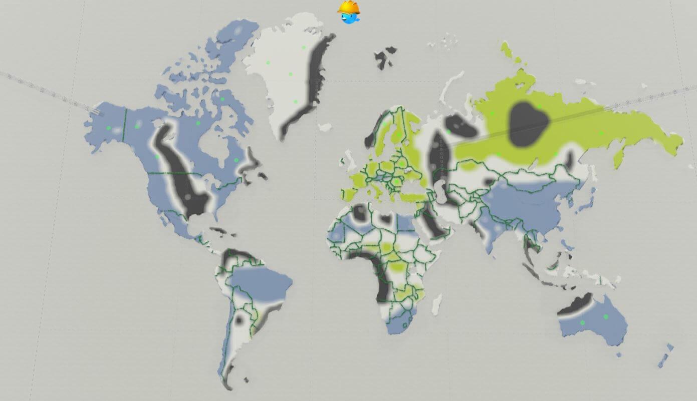 Cities: Skylines - The World / Целый мир на одной карте