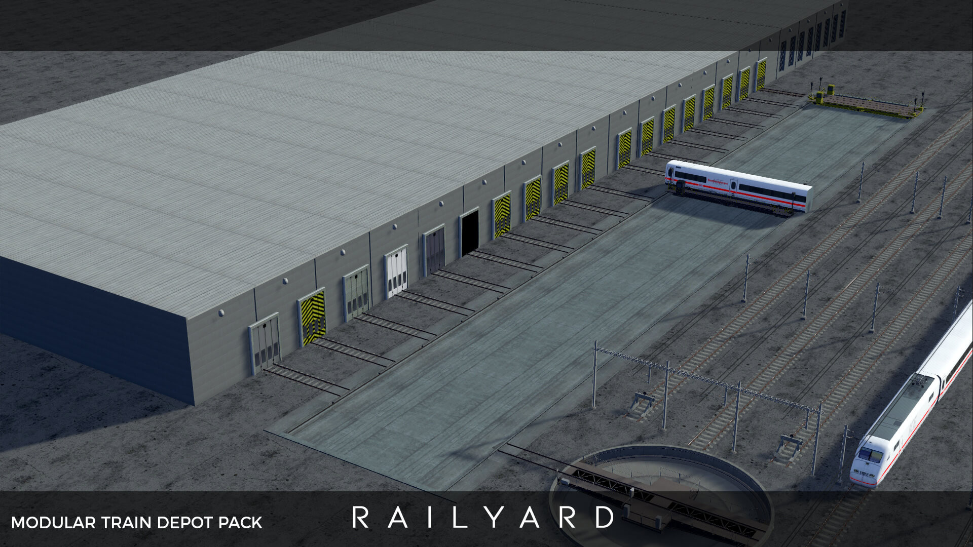 Cities: Skylines - Двери железнодорожного депо (пак)