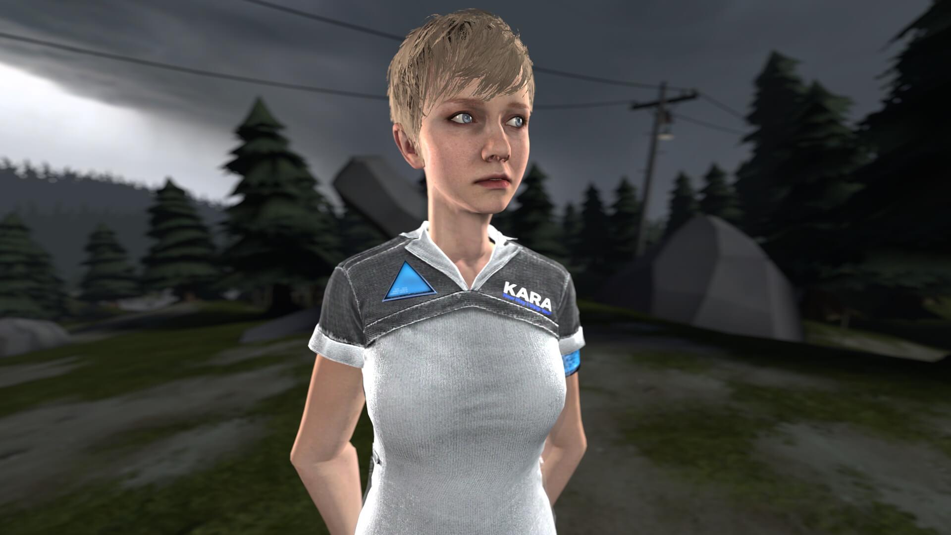 Garry's Mod - Кара из Detroit: Become Human (игровая модель и NPC)