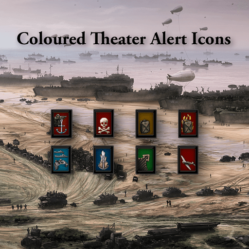 Hearts of Iron IV - Coloured Theater Alert Icons
