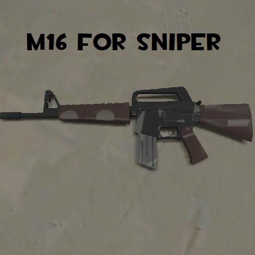 Garry's Mod - M16 для снайпера