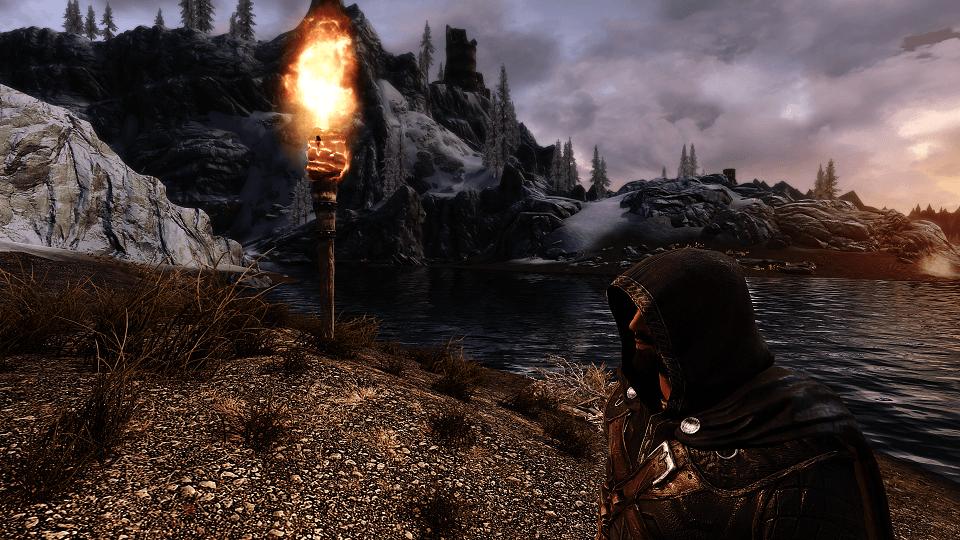 Skyrim SE - Парящий факел